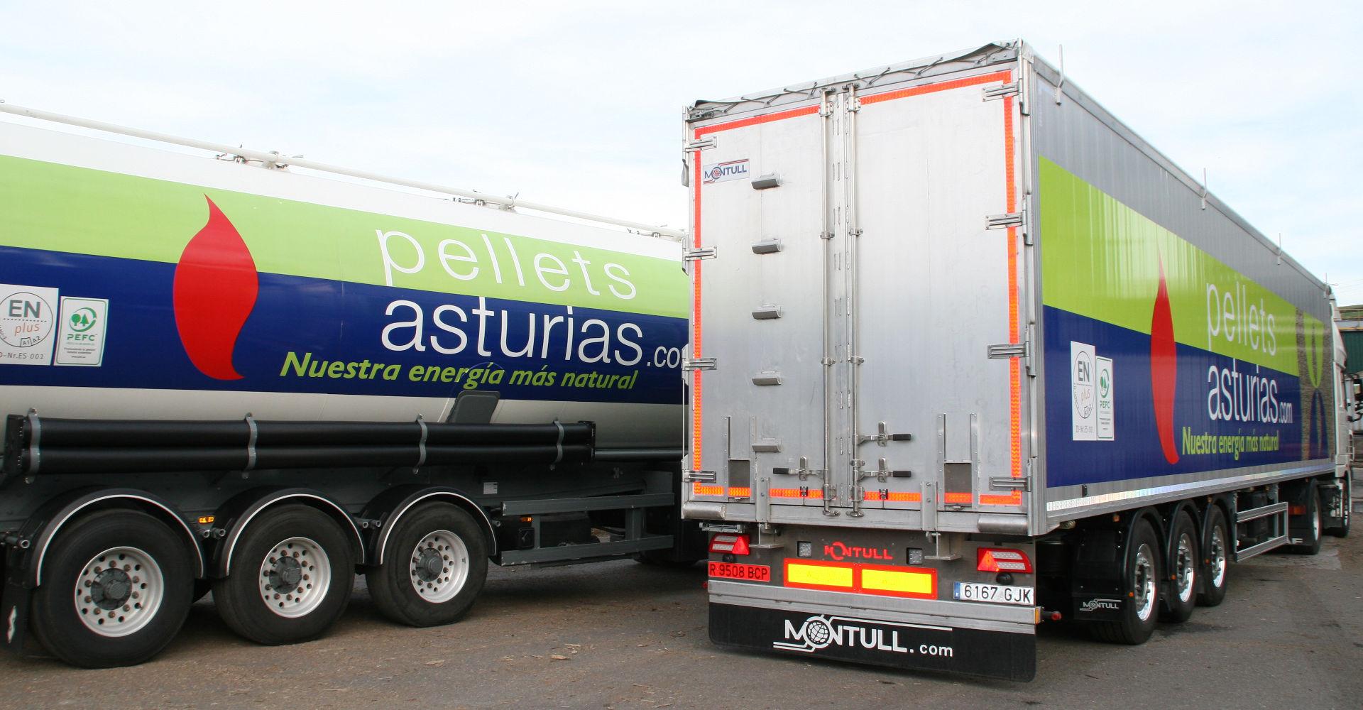 Camiones para la distribución de pellets